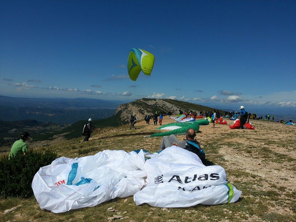 Paragliding Ager Launch