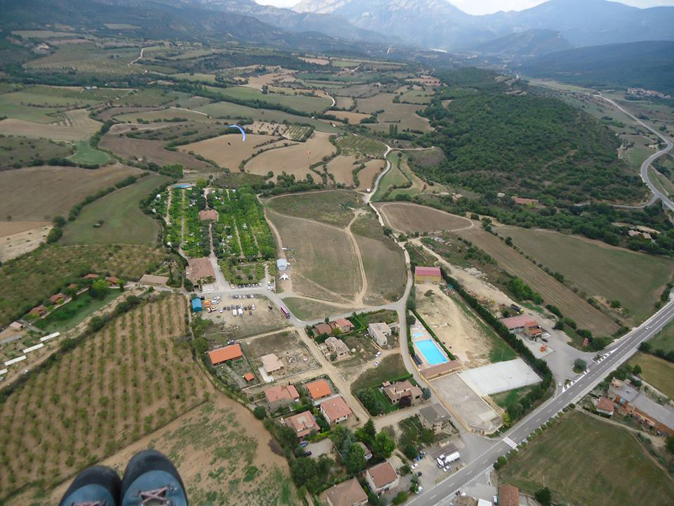 Paragliding Ager Landing field